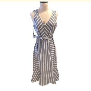 MSK Blue White Striped Dress
